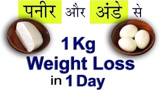 1 Kg Weight Loss in 1 Day | सिर्फ Paneer और Eggs से | Diet Plan to Lose Weight Fast | Hindi Video