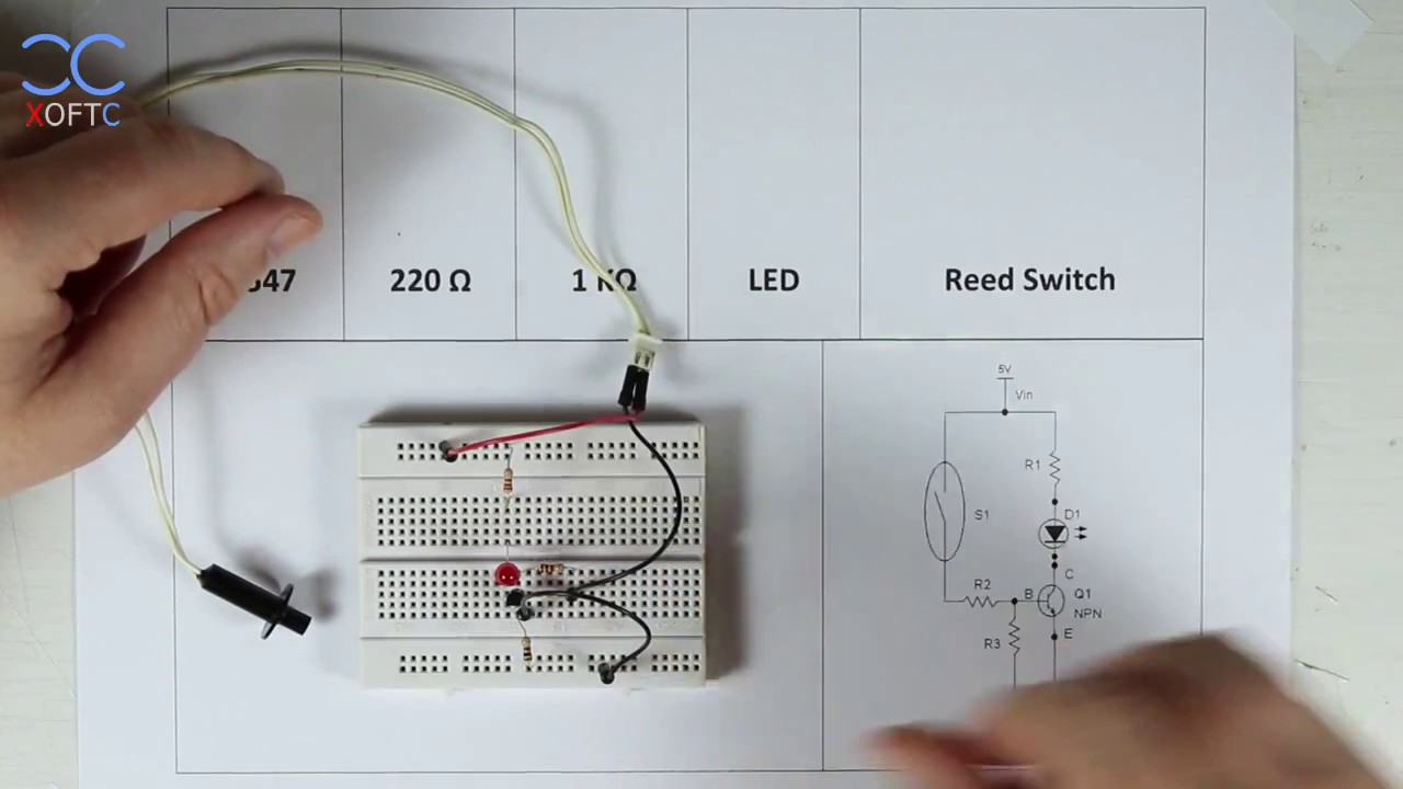 XCBV: Reed Switch Demonstration Circuit - YouTube