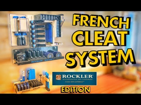 French Cleat System Featuring Rockler Woodworking And Hardware