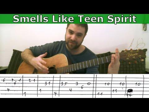 Tutorial: Smells Like Teen Spirit - Fingerstyle Guitar w/ TAB