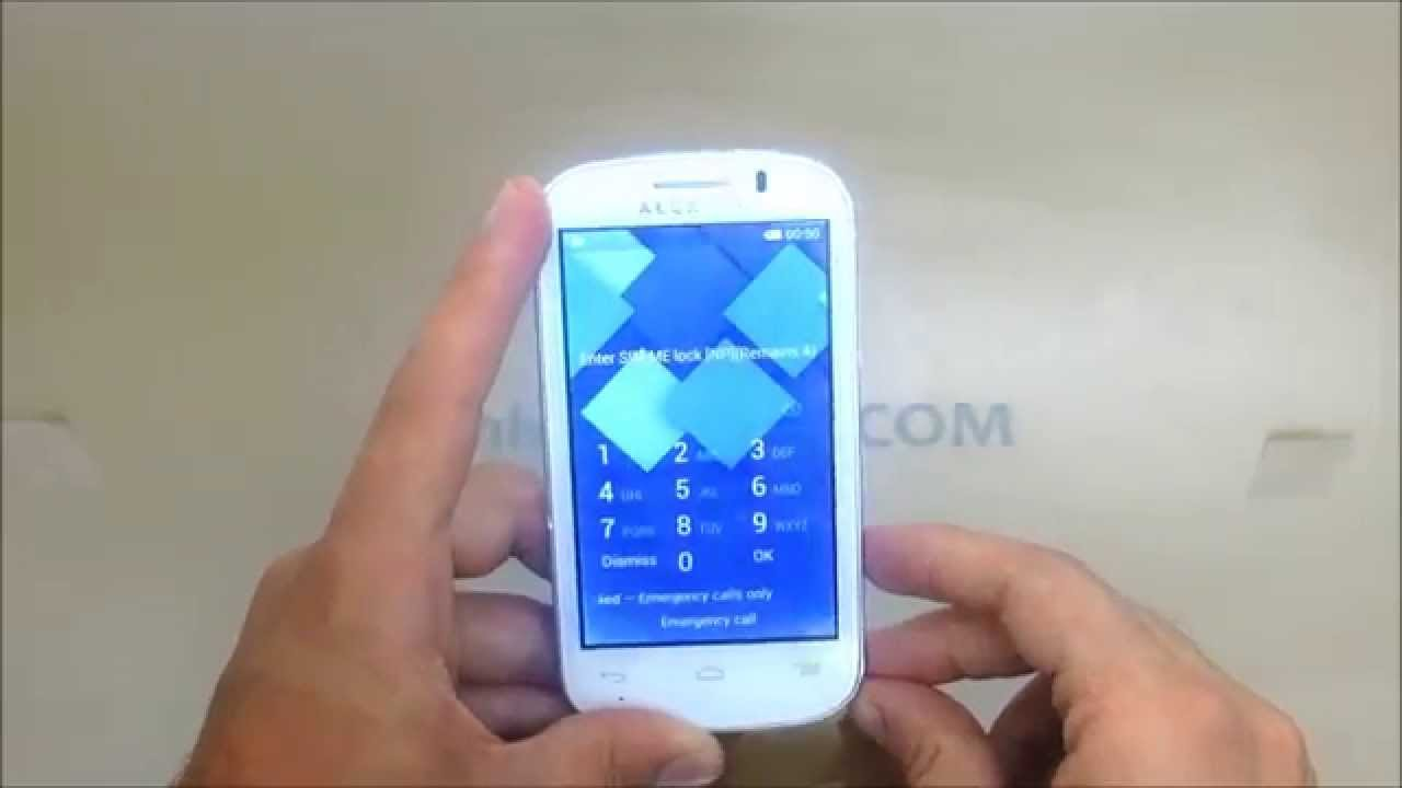 How To Unlock Alcatel One Touch C1 or PIXI 2 (4015/4016/4015A/4015T/4015N)  by Unlock Code