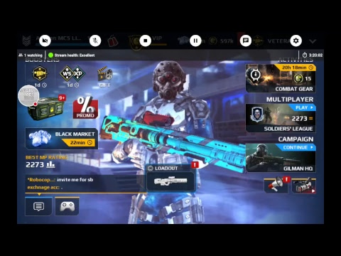 Modern Combat 5: Giveaway accounts vip 9 & 10 & free credit