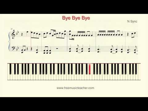 "How To Play Piano: N Sync ""Bye Bye Bye"" Piano Tutorial by Ramin Yousefi"