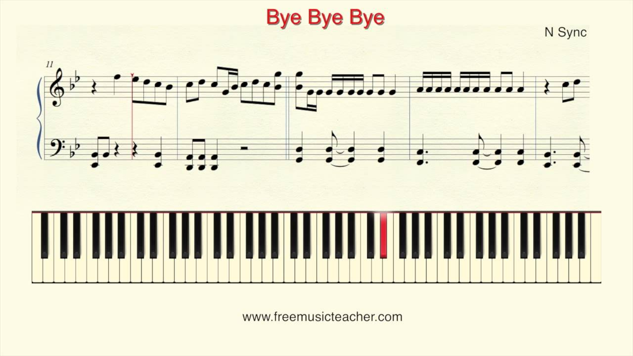 How To Play Piano N Sync Bye Bye Bye Piano Tutorial By Ramin Yousefi Youtube