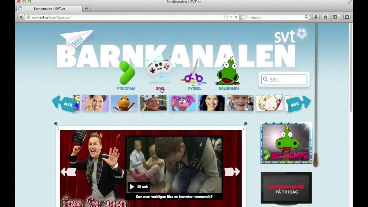 Vägledning till Barnkanalen - YouTube