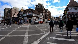 ⁴ᴷ⁶⁰ Walking NYC : Austin Street, Forest Hills, Queens from 67th Avenue to Union Turnpike