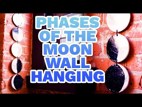 DIY Phases of the Moon Wall Hanging - HGTV Handmade