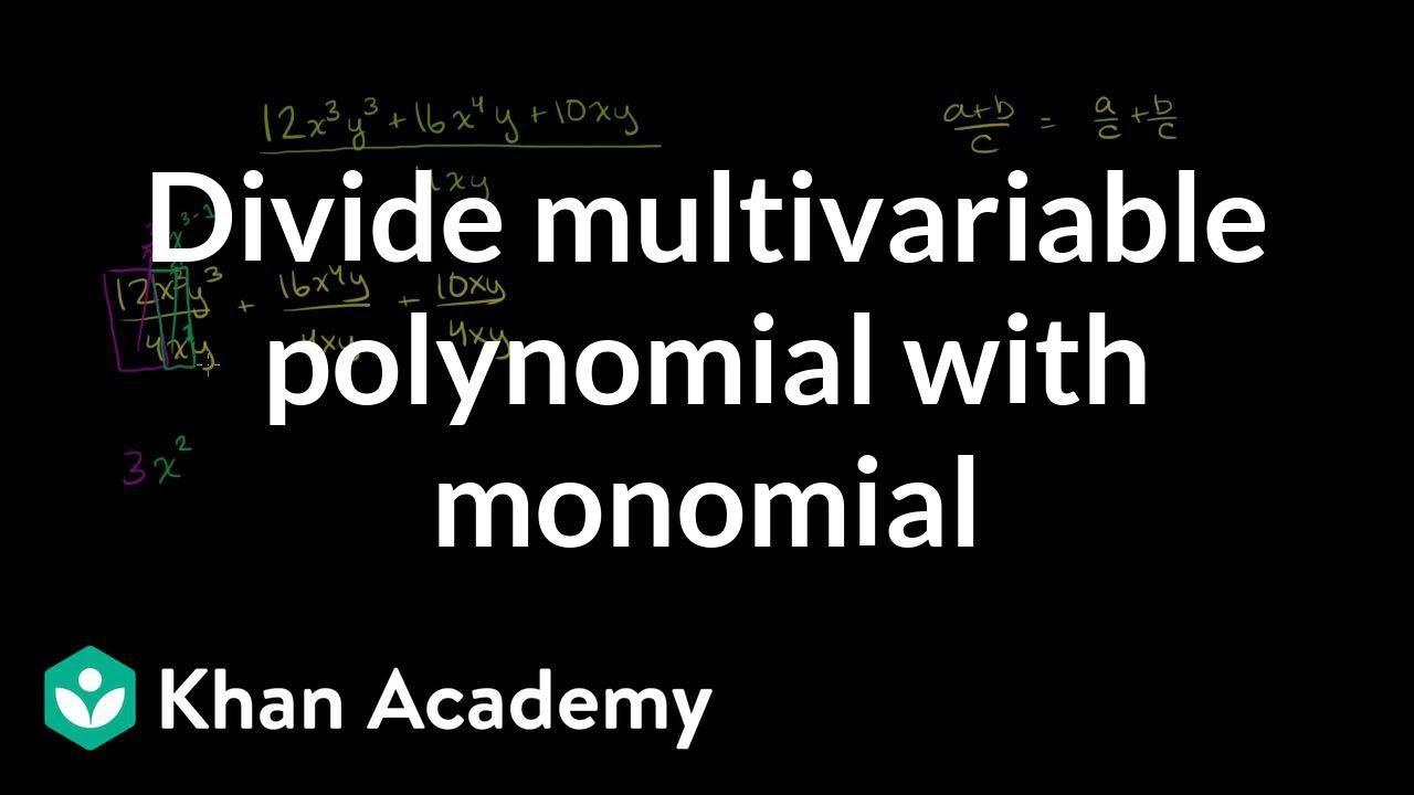 Homework help dividing monomials