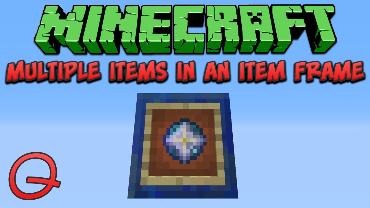 Minecraft: Multiple Items In An Item Frame (Quick) Tutorial - YouTube