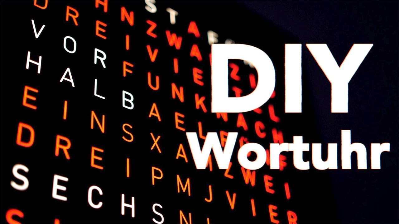 DIY Wortuhr mit Frontplatte aus Edelstahl! - So geht Style! | Tips, Tricks & More