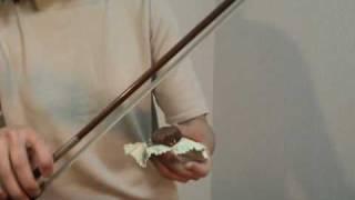 はじめてのバイオリン練習・松脂のつけ方と適切な松脂の量 thumbnail