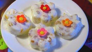 Сметанное Желе С Фруктами. Просто И Вкусно! Sour Cream Jelly With Fruits. Simply And Tasty!