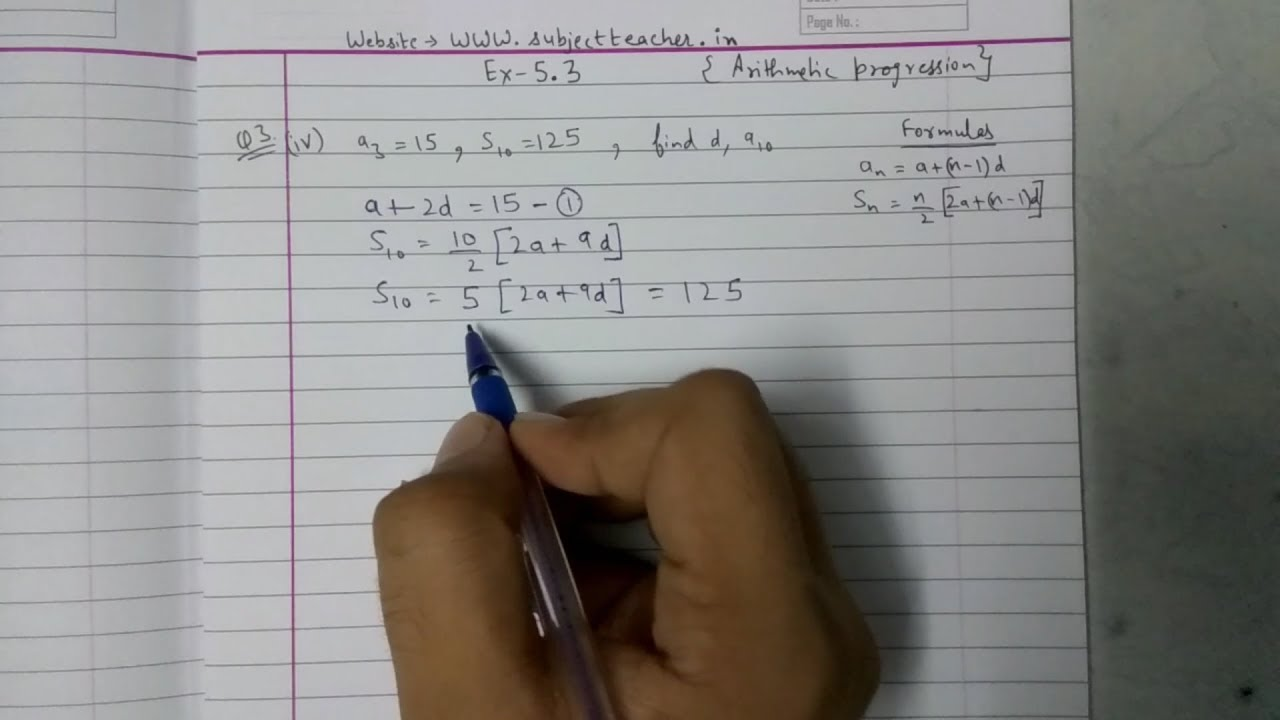 Chapter 5 Exercise 5 3 Q3 (continued) class 10 maths NCERT in English or  Hindi