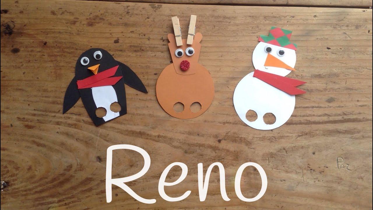 cmo hacer un reno de navidad marionetas navideas caseras para nios