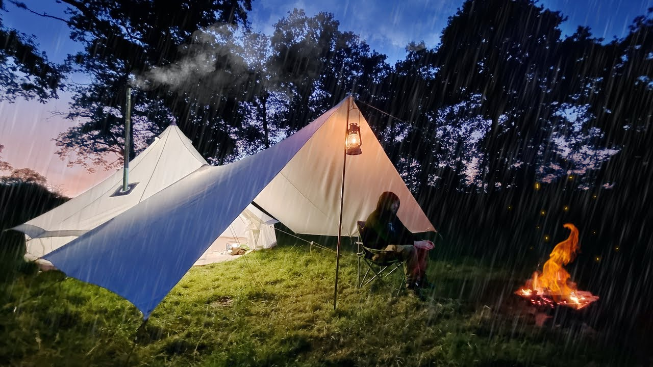Rainy 3 Nights in a Hot Tent with a Dog