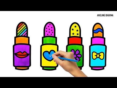 menggambar-dan-mewarnai-lipstik-untuk-anak---anak