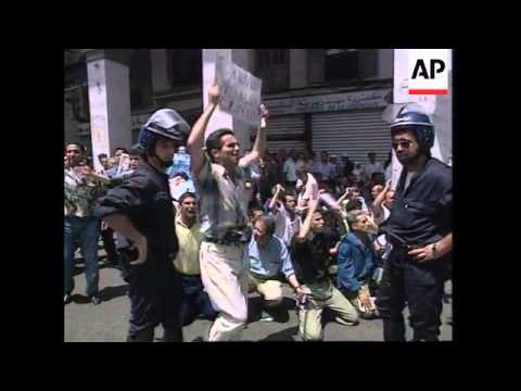 ALGERIA: ALGIERS: POLICE BREAK UP SOCIALIST DEMONSTRATION