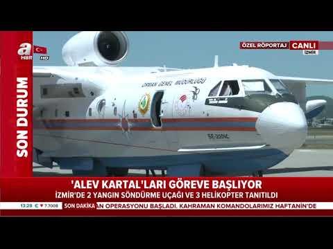 İzmir'de 2 Yangın Söndürme Uçağı Ve 3 Helikopter Tanıtıldı