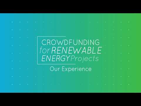 Crowdfunding for RES projects - Our Experience