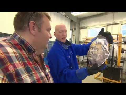 Faces cast in bronze to honour WW I soldiers