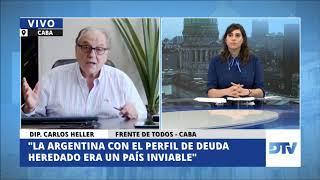 05-08-2020 - Carlos Heller en DTV con Melina Fleiderman y Pato Méndez #AcuerdoDeuda #AporteSolidario