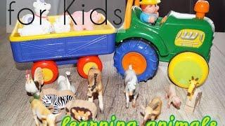Farm animals for Kids | SCHLEICH Tiere | learning animals | про машинки Трактор на ферме