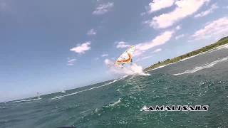 099 Taty Frans super slow motion forward loop on 2015 Mutant 4 batten wave sail