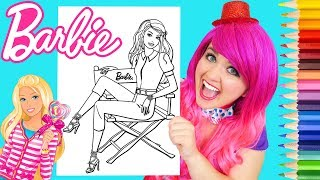 Coloring Barbie Movie Star Coloring Book Page Prismacolor Colored Pencils | KiMMi THE CLOWN