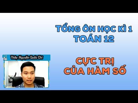 [TỔNG ÔN KÌ I] CỰC TRỊ CỦA HÀM SỐ _ TOÁN 12 _ Thầy Nguyễn Quốc Chí