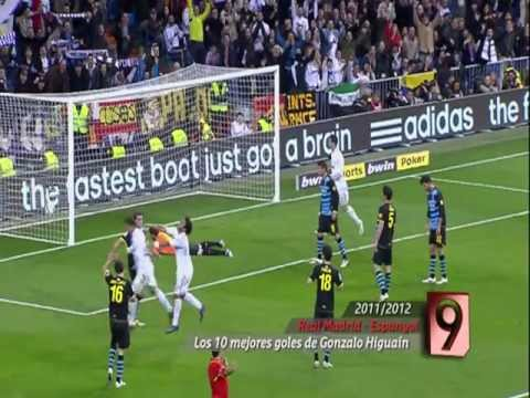 Los diez mejores goles de Gonzalo Higuaín con el Real Madrid