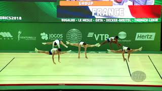 France (FRA) - 2018 Aerobic Worlds, Guimaraes (POR) - Group Qualifications