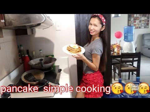 Pancake simple cooking,