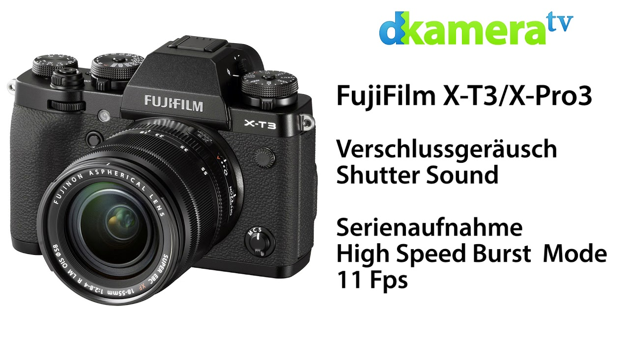 FujiFilm X-T4 vs. X-T3/X-Pro 3 - Shutter Sound Comparison - Vergleich Auslösegeräusch