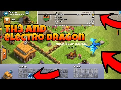 Th3 and electro 🐉 dragon in army camp, unlocked clash of clans(Hindi)sam1735