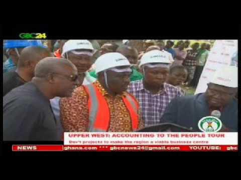 President Mahama tours Upper West Region