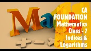 CA FOUNDATION - Business Mathematics and LR & Statistics - Chapter 1 Ratio and Proportion Class 7