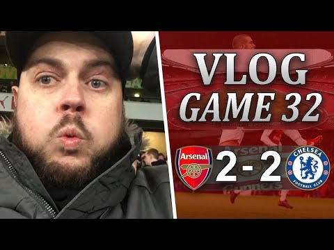 ARSENAL v CHELSEA - HAZARD IS A CHEAT! - MATCHDAY VLOG