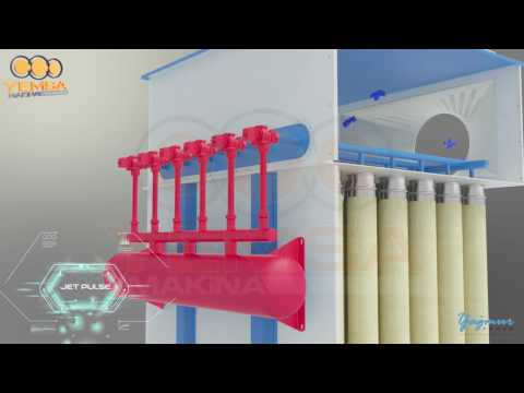 3D Machinery Animation - Jet Filter (Feed Mill Sector) - 3DS Max - Autodesk Maya Animation Turkey