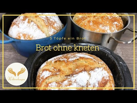 Nur 3 Stunden und 1 Tasse! So ein leckeres Brot hast du noch nicht gegessen. Und alles ohne kneten