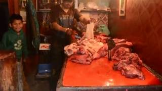 Nepalese Butcher Shop