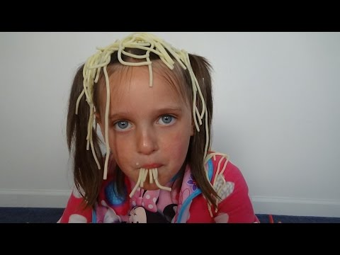 "Thumbnail: Baby Annabelle Eats Spaghetti & Pees On Victoria Messy ""Toy Freaks"""
