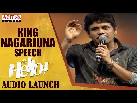 King Nagarjuna Extraordinary Speech @ HELLO! Movie Audio Launch