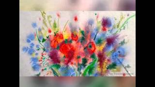 арт - терапия , рисуем цветы акварелью(Когда хочется просто выплеснуть эмоции на бумагу Когда знаешь, что рисовать что -то целенаправленно нет..., 2015-07-02T09:21:44.000Z)