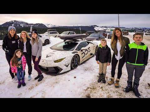 Family Vacation In A Lamborghini