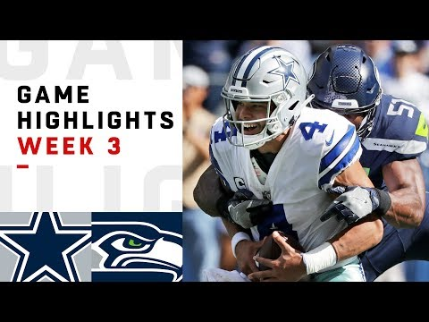 Cowboys vs. Seahawks Week 3 Highlights | NFL 2018