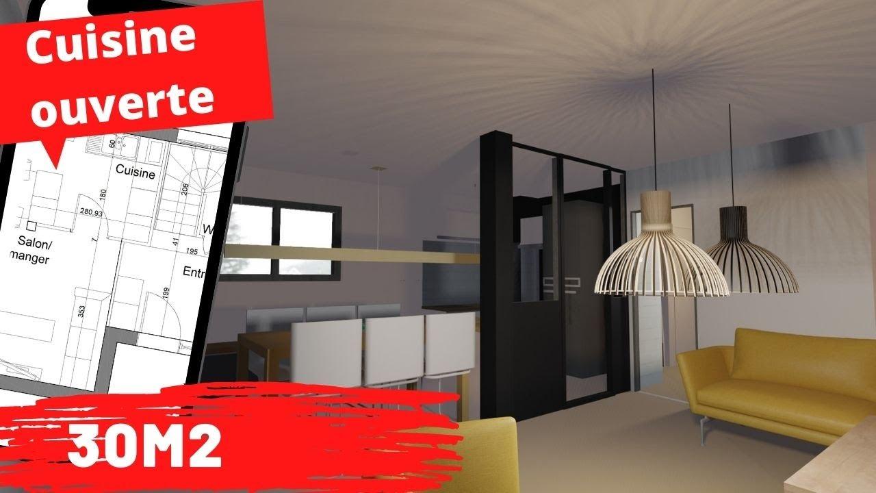 Cuisine Ouverte Sur Salon 30m2 Sans Les Odeurs Et Sans Le Bazar Youtube