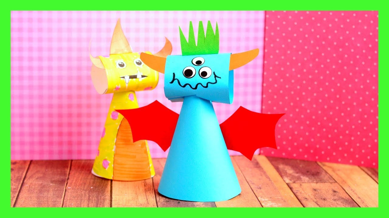 Paper cone monsters craft fun halloween crafts for kids youtube paper cone monsters craft fun halloween crafts for kids jeuxipadfo Choice Image