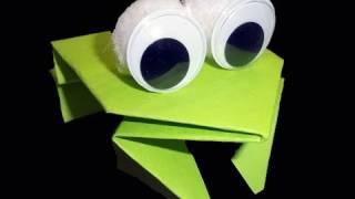 Cómo hacer una rana saltarina origami - manualidadesconninos