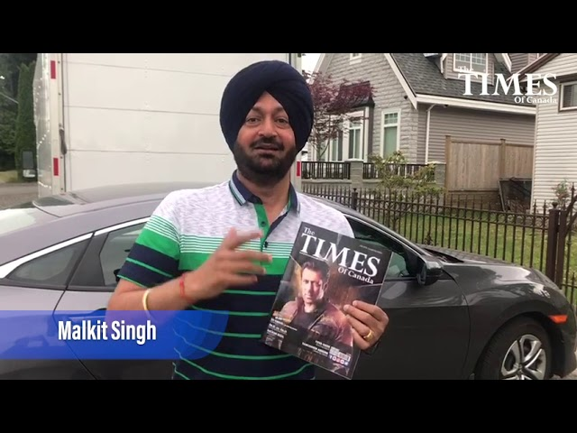 Malkit Singh Talking About The Times of Canada Magazine