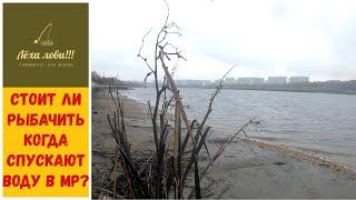 Стоит ли РЫБАЧИТЬ когда спускают воду в МОСКВЕ РЕКЕ мое мнение о рыбалке во время спуска воды